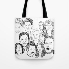 Parks and Recreation 'Rec a Sketch' Tote Bag