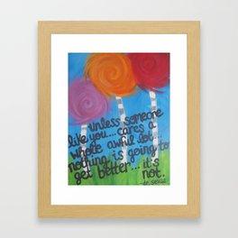 dr. seuss  Framed Art Print
