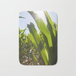 sun shining through green corn Bath Mat