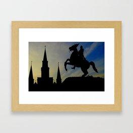 Landmark Silhouettes in Casa de Armas Framed Art Print