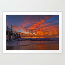 Red Clouds on the Northside Art Print