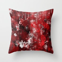 Red Nebula Throw Pillow
