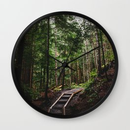 The Path to the Mountains Wall Clock