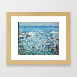 Surf, Isles of Shoals - Childe Hassam Framed Art Print
