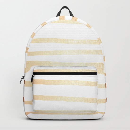 Simply Drawn Stripes Deep Bronze Amber Backpack