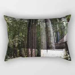 cabin in the woods Rectangular Pillow
