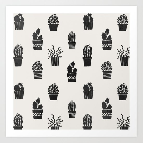 Southwestern Stamped Potted Cactus + Succulents by followmeinstead