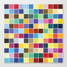 Pantone Color Palette - Pattern Canvas Print