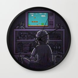 Kid playing Super Mario Bros. Wall Clock