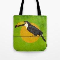 toucan Tote Bags featuring toucan by John Beswick