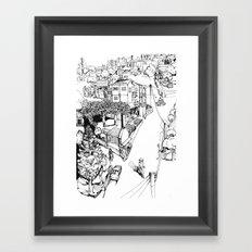 Mesogi Village Centre Framed Art Print