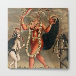 Chhinnimasta Hindu Goddess of Contradiction Metal Print