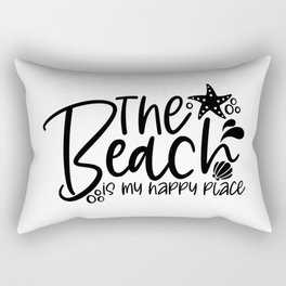 The beach is my happy place Rectangular Pillow