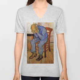 At Eternity's Gate by Vincent van Gogh Unisex V-Neck