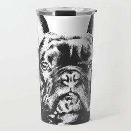 Black And White French Bulldog Sketch Travel Mug
