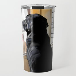 Ajax Watches the World Go By Travel Mug