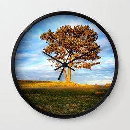 Tree In Spotlight Wall Clock