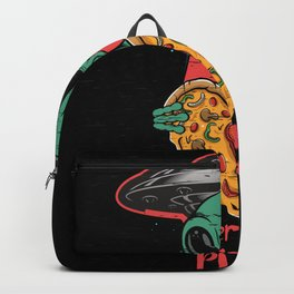 Alien Is Here For Pizza Backpack