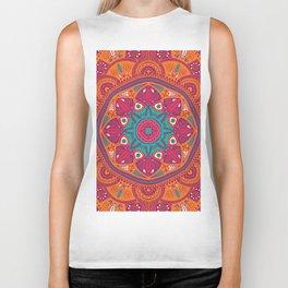 Colorful Mandala Pattern 017 Biker Tank