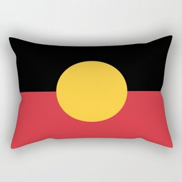 Australian Aboriginal Flag Rectangular Pillow
