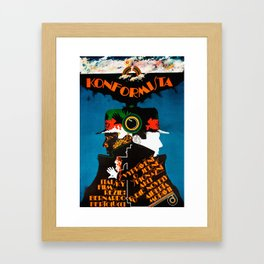 Vintage Czech Film Poster - The Conformist Framed Art Print