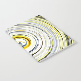 Yellow And Black Funky Swirl Notebook