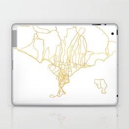 BALI INDONESIA CITY STREET MAP ART Laptop & iPad Skin