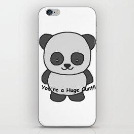 Panda says you're a huge cunt iPhone Skin