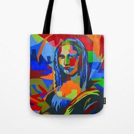 Mona Lisa Abstract Tote Bag