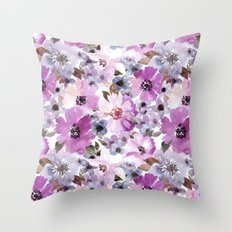 FLOWERS WATERCOLOR 15 Throw Pillow
