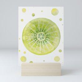 Microscopic - Diatoms - Green Palette Mini Art Print