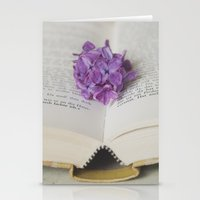 Stationery Cards featuring Lilac Bookmark II by Maria Heyens