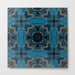 Tic Tac Toe Blue Metal Print