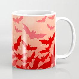 Bats set off into the night - red version Coffee Mug