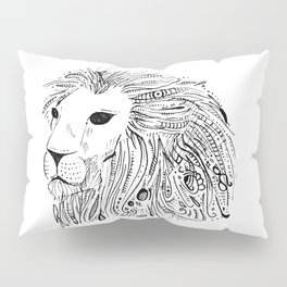LION - LEO - abstract zodiac marker doodle Pillow Sham