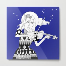 The Queen of Spades - The Sonata Metal Print