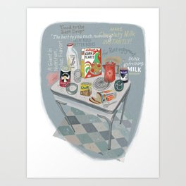 1960s Breakfast Art Print