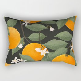 fresh citrus // dark Rectangular Pillow