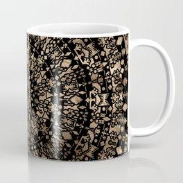 Ethnic Tribal Mandala Black and Gold Coffee Mug