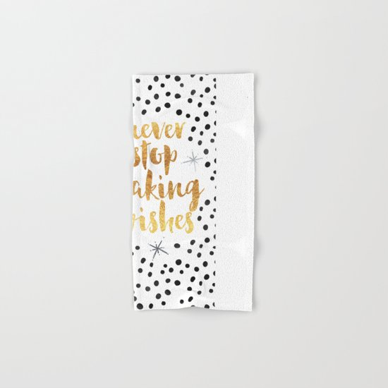 Making Wishes Quote Hand & Bath Towel