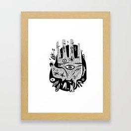 Hand help Framed Art Print