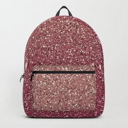 Pastel Pink Ombre Glitter Backpack