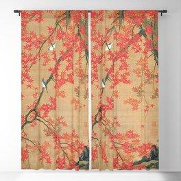 Flowers Japanese U-kiyo Blackout Curtain
