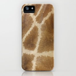 skin of a giraffe iPhone Case