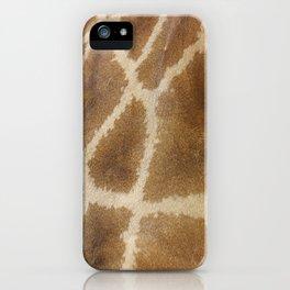skin of a giraffe iPhone Case