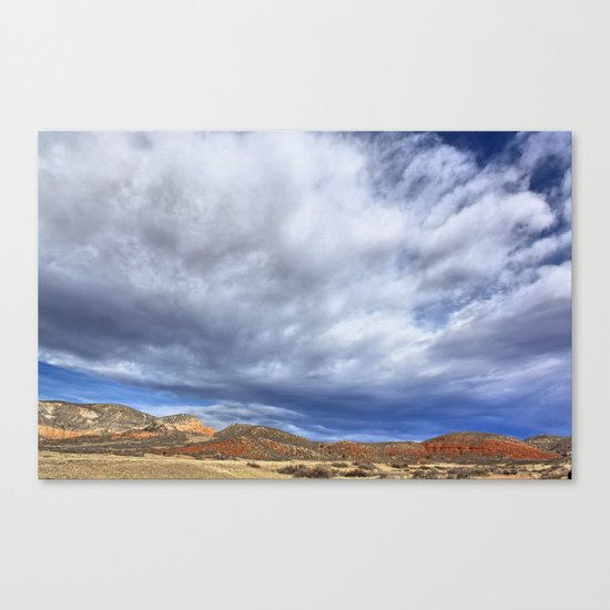 Red Mountain Open Space Canvas Print