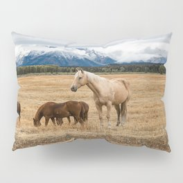 Mountain Horse - Western Style in the Grand Tetons Pillow Sham