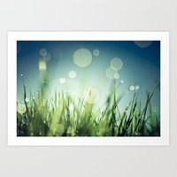 grass Art Prints featuring Grass  by Koka Koala