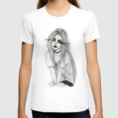 sangre fria SMALL Womens Fitted Tee White