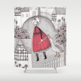 The Old Village Shower Curtain